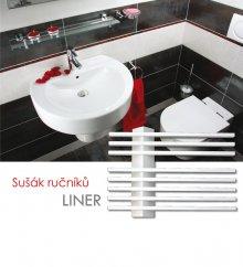 Sušák ručníků LINER-ES 55x39, metalická stříbrná