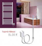 EL.05 R 600 W elektrické topné těleso s regulátorem prostorové teploty a programem sušení, bílá