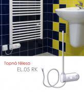 EL.05 RK 600 W elektrické topné těleso s regulátorem prostorové teploty a programem sušení, bílá