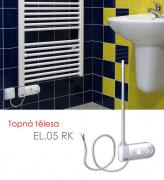 EL.05 RK 1350 W elektrické topné těleso s regulátorem prostorové teploty a programem sušení, bílá