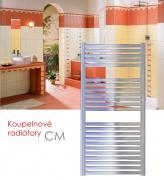 CM.ES 45x123 elektrický radiátor bez regulace, do zásuvky, chrom
