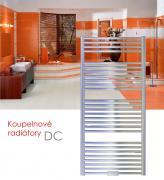 DC.ERK 75x129 elektrický radiátor s regulací teploty,spínačem a funkcí rychlého sušení, chrom