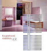 KR.E 60x80 elektrický radiátor bez regulace, metalická stříbrná