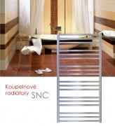 SNC.ERK 121x48 elektrický radiátor s regulací teploty,spínačem a funkcí rychlého sušení, chrom