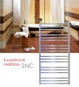 SNC.ER 60x163 elektrický radiátor s regulací teploty a spínačem, chrom
