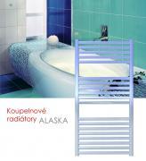 ALASKA.E 120x52 elektrický radiátor bez regulace teploty, broušený nerez