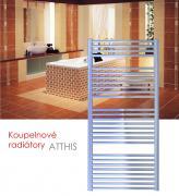 ATTHIS.EI 50x129 elektrický radiátor s elektronickým regulátorem prostorové teploty, broušený nerez