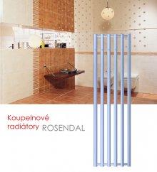 ROSENDAL.ERHT2C 42x95 elektrický radiátor s regulátorem, do zásuvky, termostat, 30–60°C, bílá