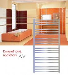 AV.ERC 50x79 elektrický radiátor s vertikálním regulátorem, metalická stříbrná