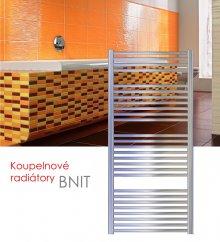 BNIT.ERC 75x148 elektrický radiátor s vertikálním regulátorem, kartáčovaný nerez
