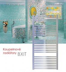 BXIT.ER 45x79 elektrický radiátor s regulátorem, do zásuvky, kartáčovaný nerez