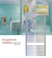 BXIT.ERK 45x79 elektrický radiátor s horizontálním regulátorem, kartáčovaný nerez