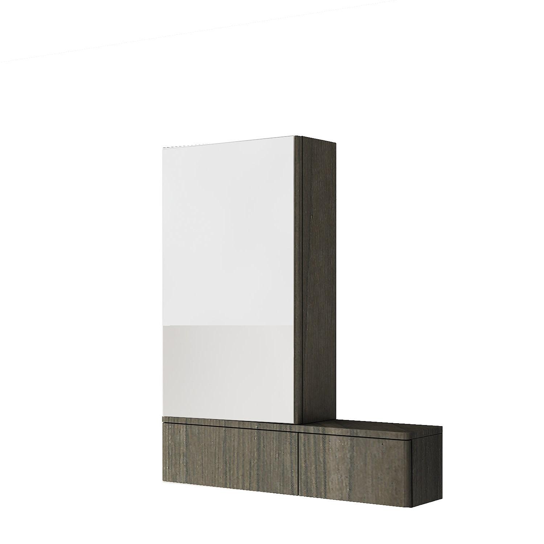 Kolo Nova Pro - zrcadlová skříňka 70,8 x 85 cm, levá, šedý jilm 88441000