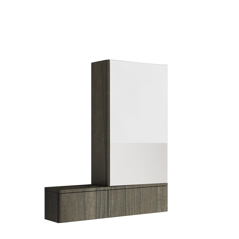 Kolo Nova Pro - zrcadlová skříňka 70,8 x 85 cm, pravá, šedý jilm 88442000