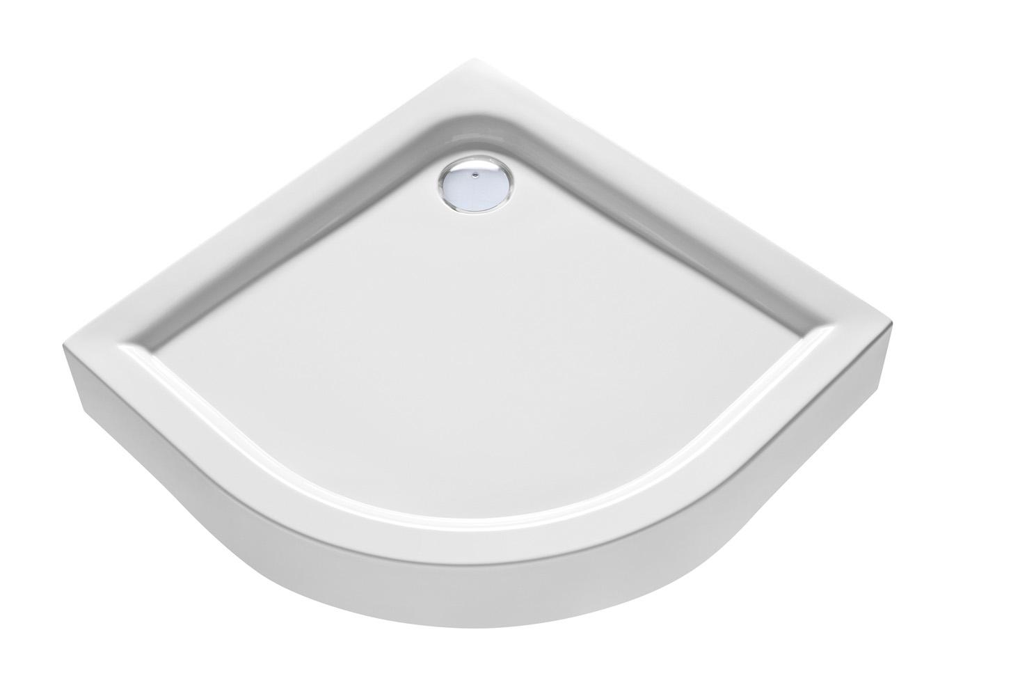 First - čtvrtkruhová sprchová vanička 90x90 cm, s integrovaným panelem