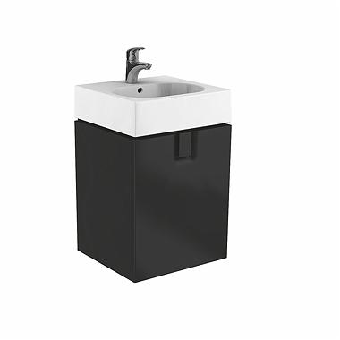 Kolo Twins - skříňka pod umyvadlo 60 x 46 cm, 1 zásuvka, černá matná 89500000