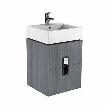 Kolo Twins - skříňka pod umyvadlo 50 x 46 cm, 2 zásuvky, stříbrný grafit 89490000