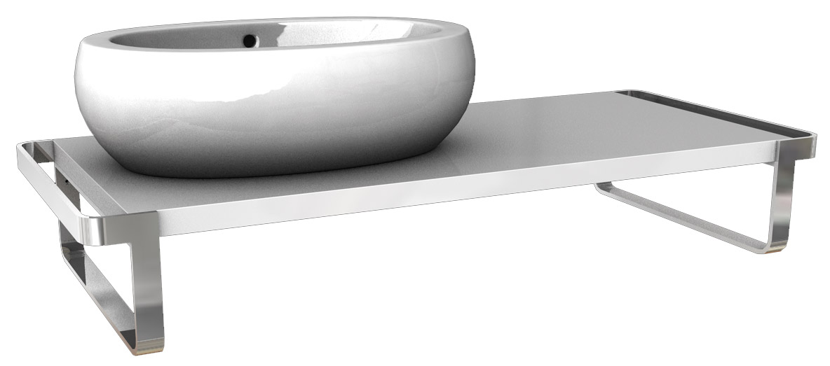 Kolo Ego/Ovum - umyvadlová deska 118,9 x 50,8 cm, levá, lesklá bílá 89236000