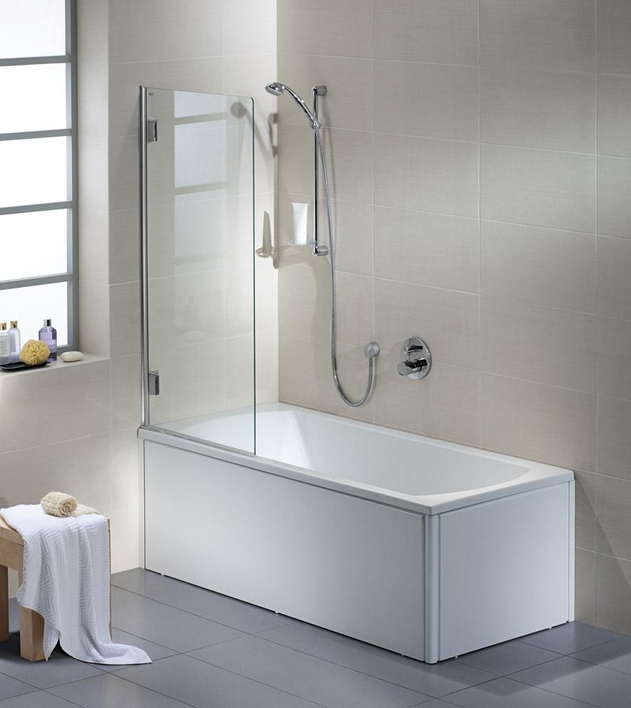 Kolo Niven - 1-dílná vanová zástěna 70 x 140 cm, sklo čiré, stříbrná lesklá FPNF70222008 L/R