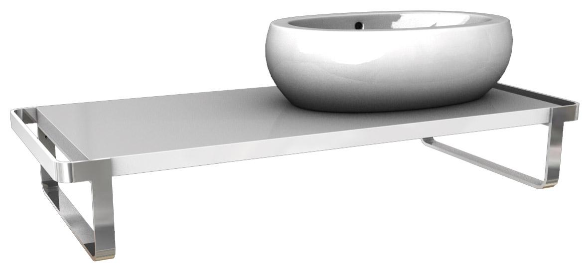 Kolo Ego/Ovum - umyvadlová deska 118,9 x 50,8 cm, pravá, lesklá bílá 89235000