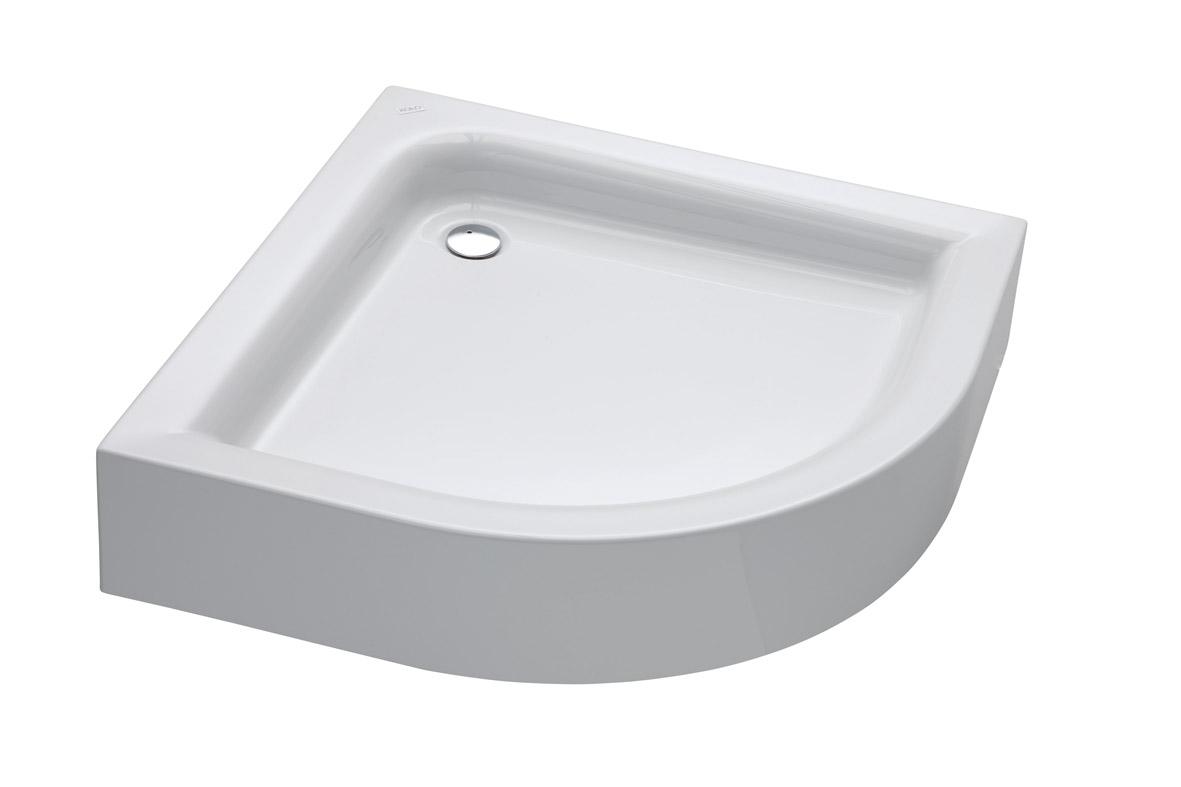 Standard Plus - čtvrtkruhová sprchová vanička 90x90 cm s integrovaným panelem