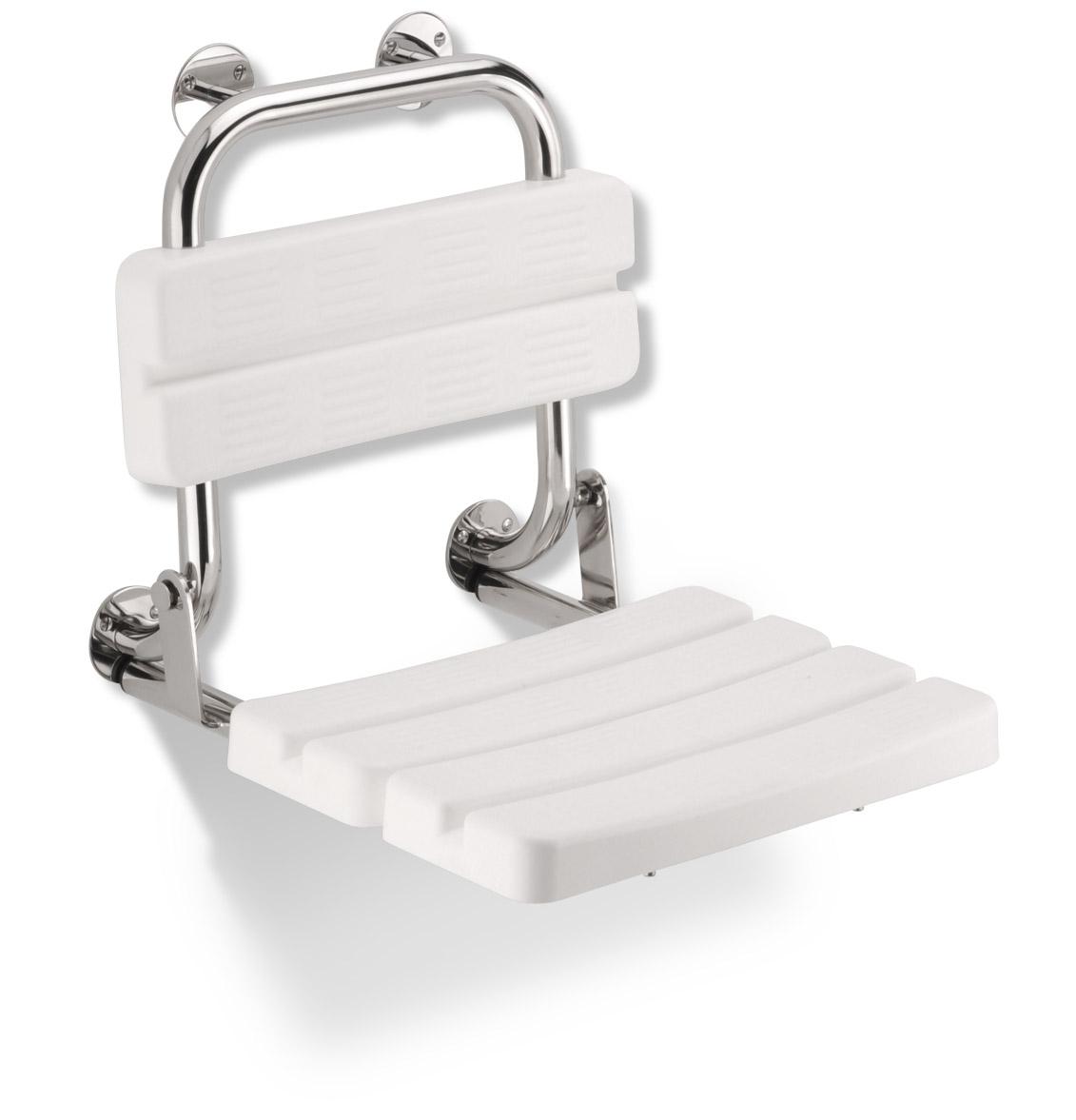 Funktion - sklopné sedátko, s opěrkou, PVC moduly