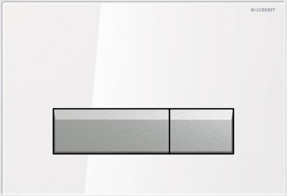 Geberit Ovládací tlačítko Sigma40 s integrovaným odsáváním zápachu, sklo/hliník 115.600.SI.1