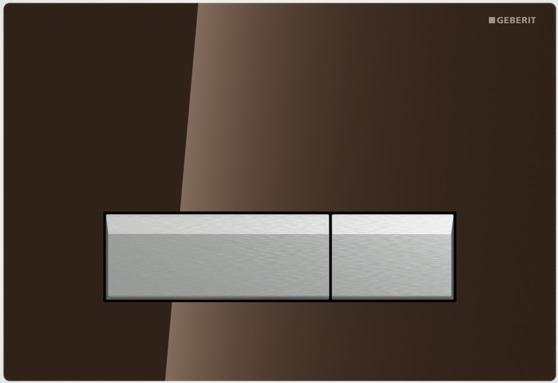 Geberit Ovládací tlačítko Sigma40 s integrovaným odsáváním zápachu, sklo/hliník 115.600.SQ.1