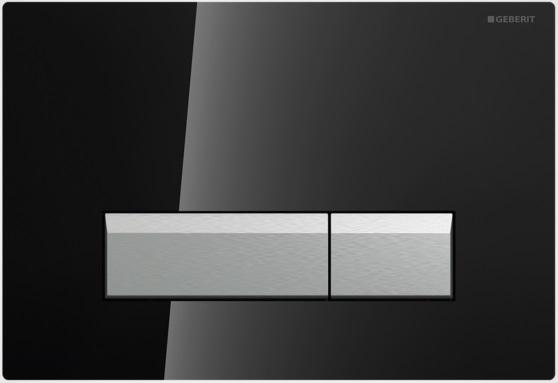 Geberit Ovládací tlačítko Sigma40 s integrovaným odsáváním zápachu, sklo/hliník 115.600.SJ.1