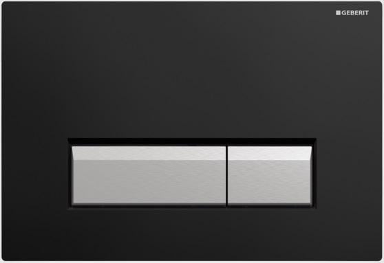 Geberit Ovládací tlačítko Sigma40 s integrovaným odsáváním zápachu, plast/hliník 115.600.KR.1