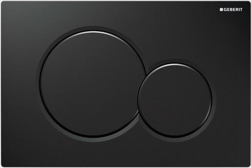 Geberit Ovládací tlačítko Sigma01, plast, černá 115.770.DW.5