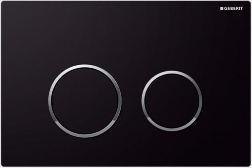 Geberit Ovládací tlačítko Sigma20, plast, černá/chrom lesk 115.778.KM.1