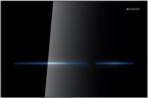 Geberit Ovládací tlačítko Sigma80, bezdotykové, černé sklo 116.090.SG.1