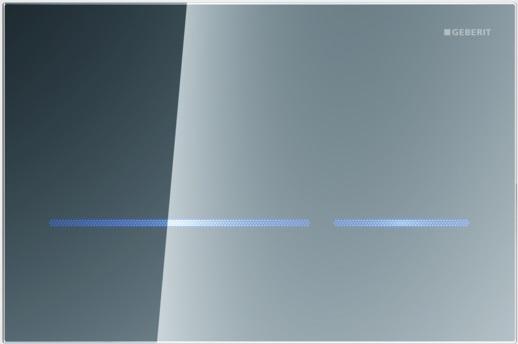 Geberit Ovládací tlačítko Sigma80, bezdotykové, zrcadlové sklo 116.090.SM.1
