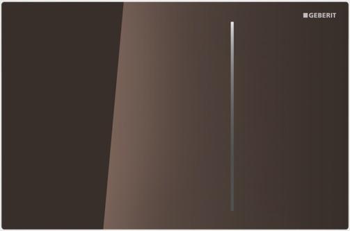 Geberit ovládací tlačítko Sigma70, sklo, hnědá 115.620.SQ.1
