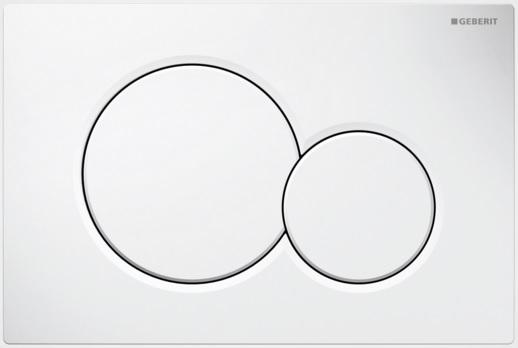 Geberit Ovládací tlačítko Sigma01, plast, bílá 115.770.11.5