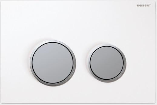 Geberit Ovládací tlačítko Sigma20, plast, bílá/chrom mat 115.778.KL.1