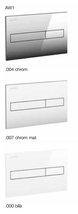 Laufen Splachovací tlačítko AW1, matný chrom H8956610070001