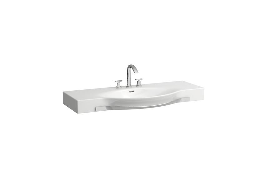 Laufen Palace - umyvadlo nábytkové 120x51, otvor pro baterii, držák na ručník H8127040001041