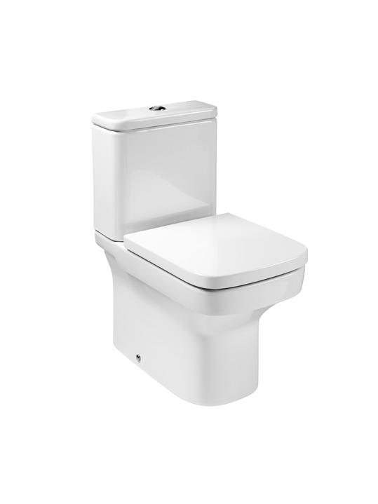 Roca Dama Compact - WC mísa kombi, hluboké splachování, vario odpad, bez nádržky a sedátka A34278W000
