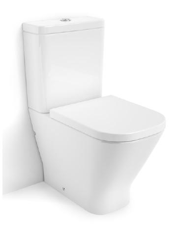 Roca the Gap Compact - WC mísa kombi, hluboké splachování, vario odpad, bez nádržky a sedátka A342472000