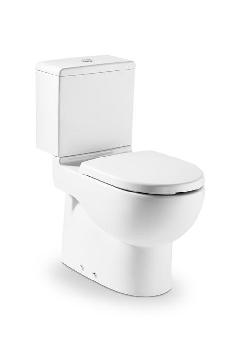 Roca Meridian - zvýšená WC mísa kombi +WC nádrž, hluboké splachování, vario odpad, bez sedátka A734224H000+A34124H000