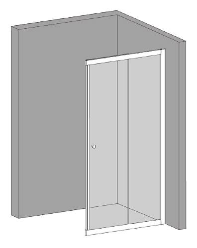 Riho Rohový sprchový kout LUCENA - 100 cm, 1 díl GKB36200
