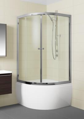 Riho Čtvrtkruhový sprchový kout LUCENA - s vaničkou 90x90 cm R55 GSET021