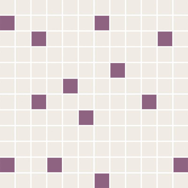 Ceramika Paradyz Luciola ecru/viola mozaika cieta mix - obkládačka mozaika 29,8x29,8 135941