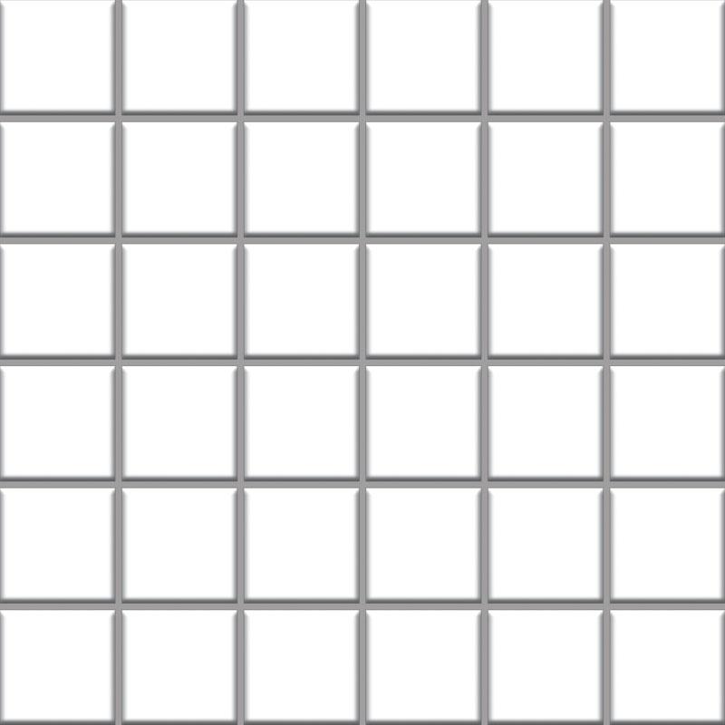 Albir bianco - dlaždice mozaika 30x30 (4,8x4,8) bílá mat