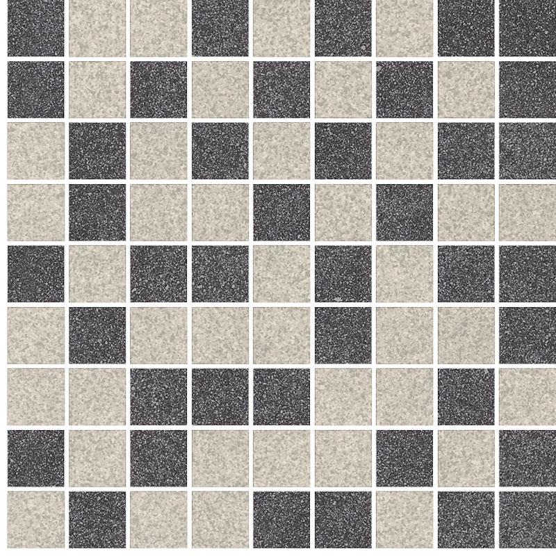 Ceramika Paradyz Arkesia grys/grafit mozaika mix poler - dlaždice mozaika 29,8x29,8 117314