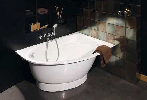 Gelco Vana Tre levá litý mramor 150x100 cm, bílá lesklá 150100650L