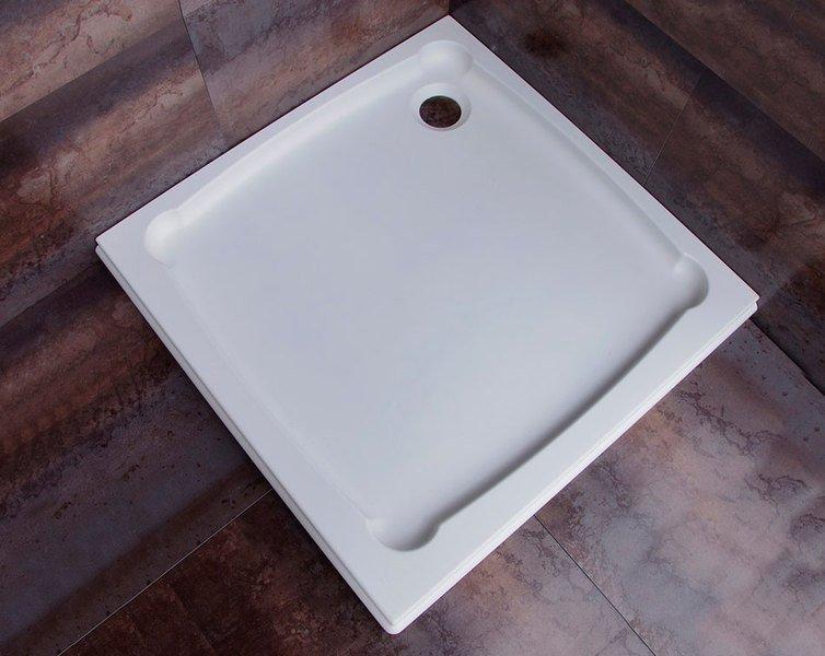 Sprchová vanička Diona - litý mramor - čtvercová 90x90 cm, bílá