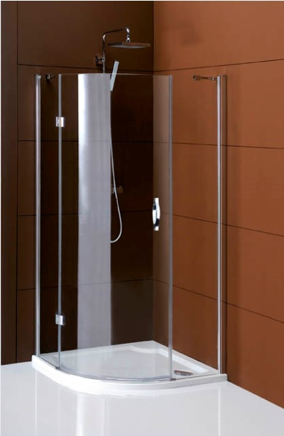 Gelco Sprchový kout Legro čtvrtkruhový, jednodílné dveře 90x90 R55, sklo čiré/leštěný profil GL6590